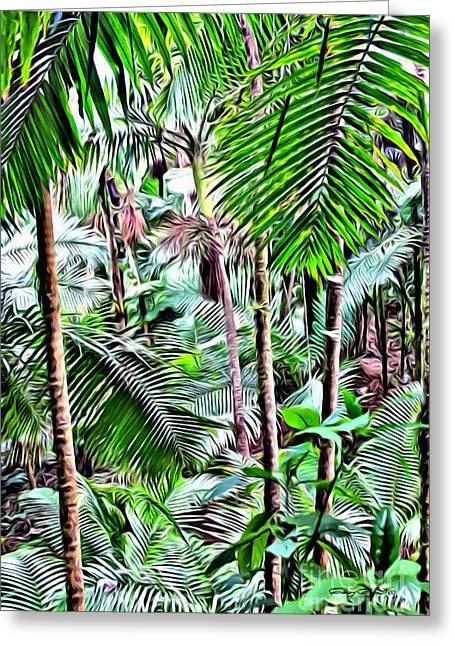 El Yunque Rainforest 5 Greeting Card by Carey Chen