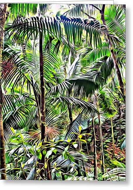 El Yunque Rainforest 6 Greeting Card by Carey Chen