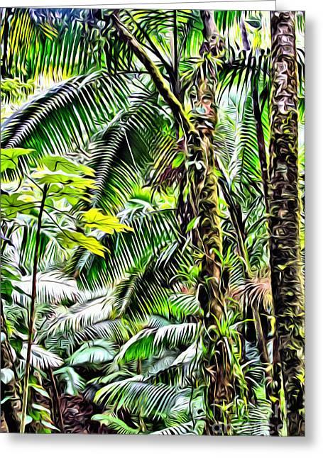 El Yunque Rainforest 7  Greeting Card by Carey Chen