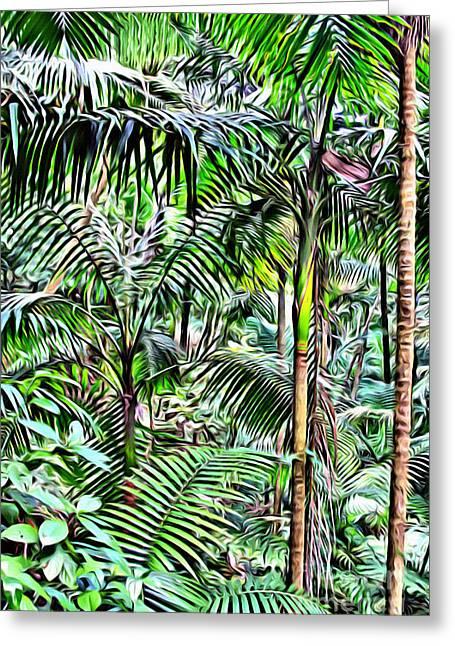 El Yunque Rainforest Greeting Card by Carey Chen