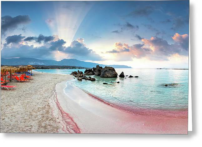 Elafonissi Beach Greeting Card by Evgeni Dinev