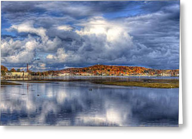 Elberta And Frankfort In Autumn Greeting Card by Twenty Two North Photography