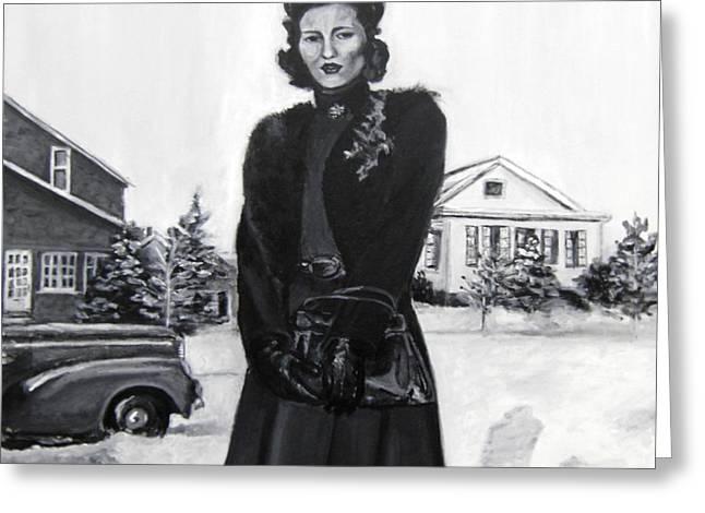 Elda Greeting Card by Natalie Mae Richards