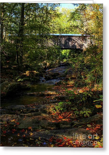 Elder Mill Covered Bridge 2 Art Greeting Card by Reid Callaway