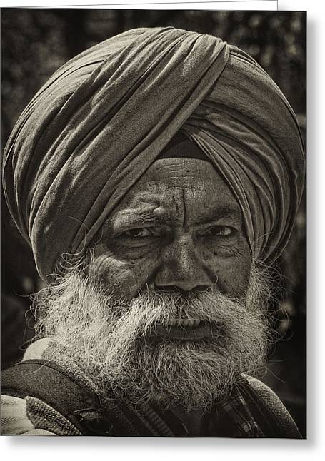 Elderly Sikh  Greeting Card