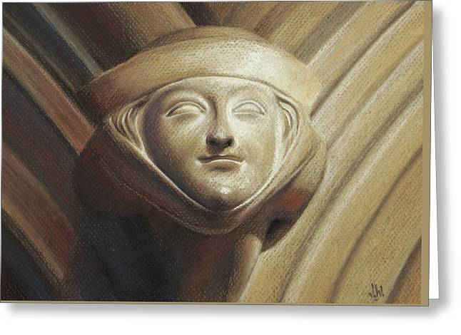 Greeting Card featuring the pastel Eleanor Of Aquitaine by Joe Winkler