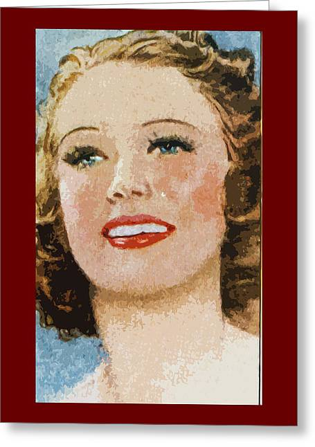 Eleanor Powell Greeting Card by James Hill