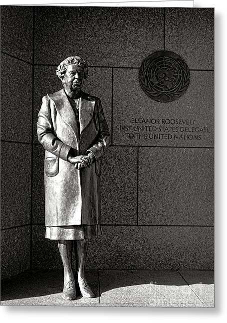 Eleanor Roosevelt Sculpture  Greeting Card