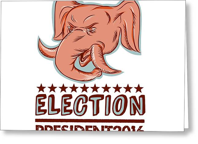 Election President 2016 Republican Elephant Mascot Greeting Card