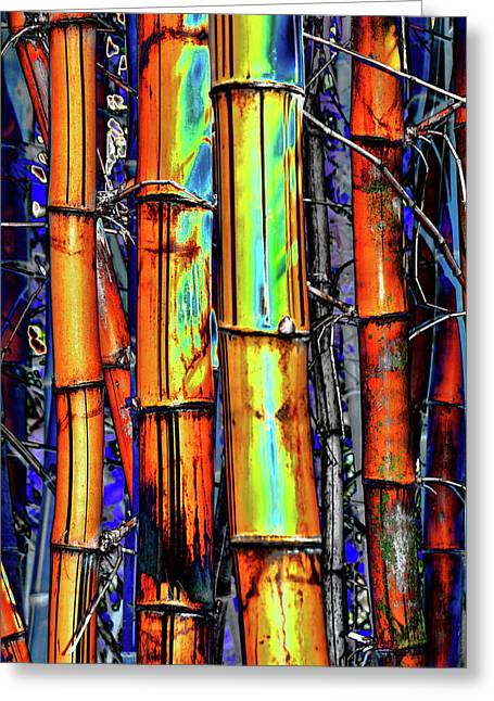 Electric Bamboo 3 Greeting Card