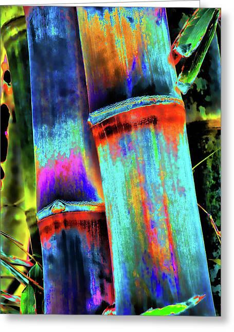 Electric Bamboo 5 Greeting Card