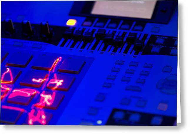 Electric Beats Greeting Card by Michael Wilcox