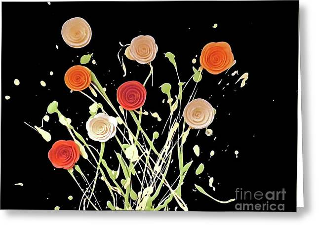 Electric Bouquet Greeting Card by Jilian Cramb - AMothersFineArt