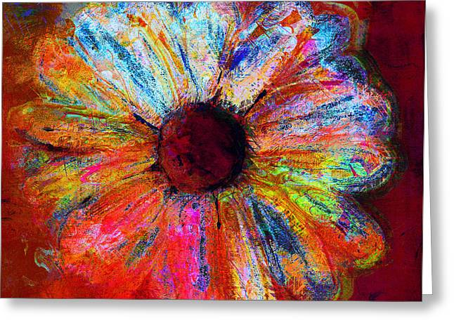 Electric Daisy Greeting Card