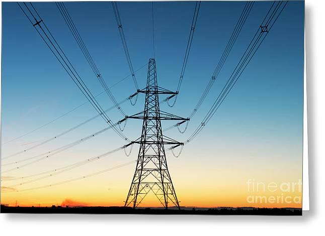 Electric Dawn Greeting Card