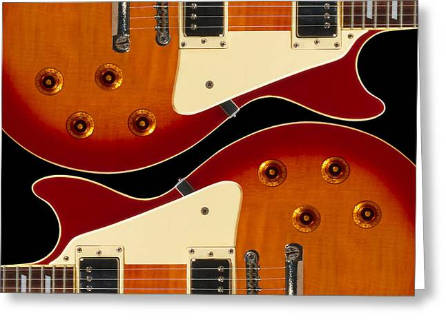 Electric Guitar II Greeting Card by Mike McGlothlen