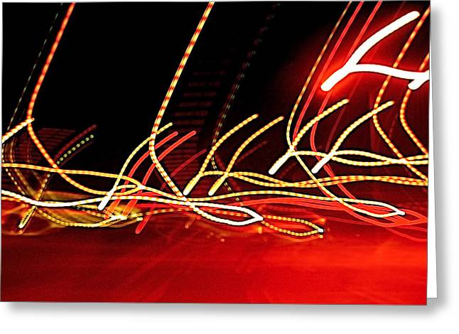 Recently Sold -  - Improvisation Greeting Cards - Electric Lasso dsc0140 Greeting Card by Myron Schiffer