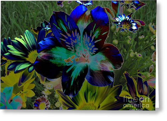 Greeting Card featuring the photograph Electric Lily by Greg Patzer