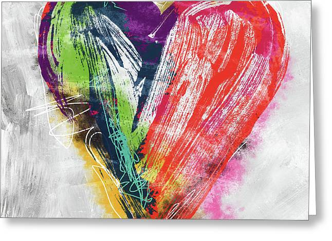 Electric Love- Expressionist Art By Linda Woods Greeting Card