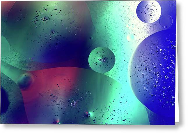 Greeting Card featuring the photograph Electric Oil Droplets Number One by John Williams