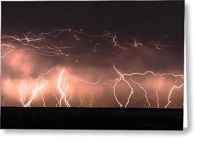 Electric Panoramic Iv Greeting Card