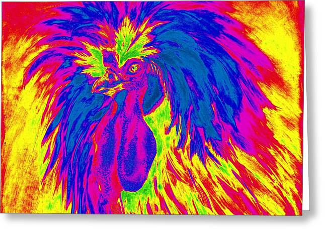 Electric Polish Hen Greeting Card by Summer Celeste