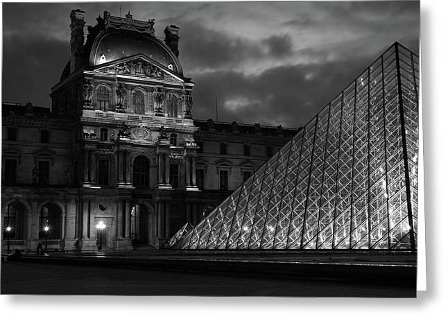 Electric Pyramid, Louvre, Paris, France Greeting Card