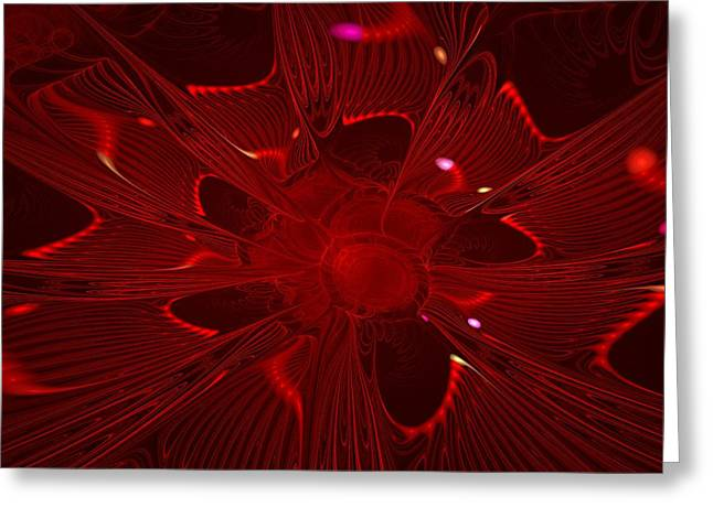 Electric Red Greeting Card