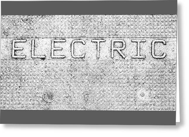 Electric Safety Cover Signage Greeting Card