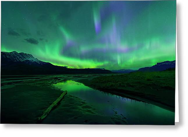 Electric Skies Over Jasper National Park Greeting Card