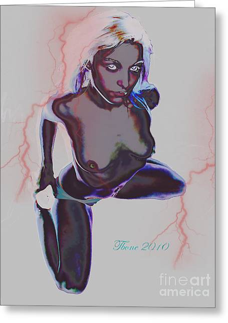 Electric Greeting Card by Tbone Oliver