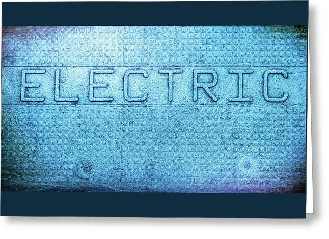 Electric Text Greeting Card