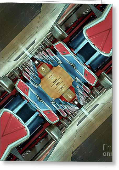 Upside Down Train Greeting Card by Phil Perkins