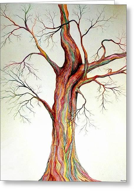 Electric Tree Greeting Card