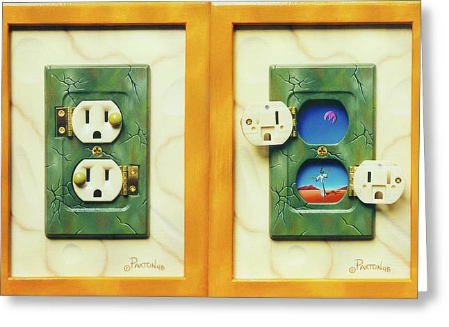 Electric View Miniature Shown Closed And Open Greeting Card