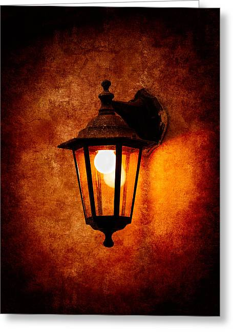 Greeting Card featuring the photograph Electrical Light by Alexander Senin