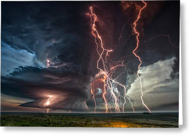 Electrical Storm Greeting Card