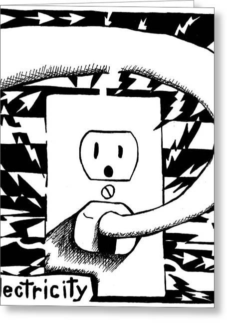 Electricity Maze Greeting Card by Yonatan Frimer Maze Artist