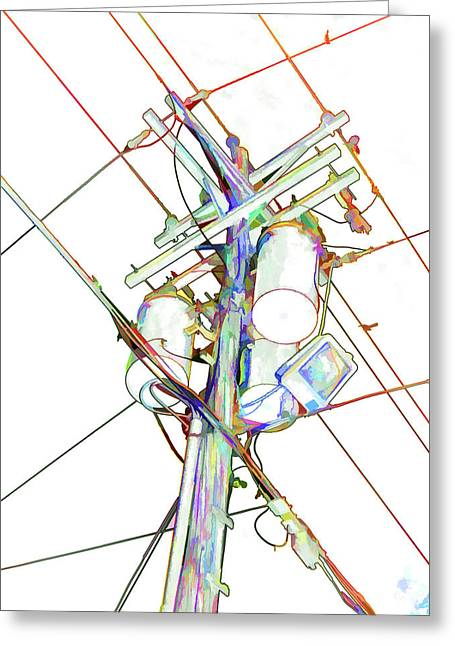 Electricity Post  Greeting Card