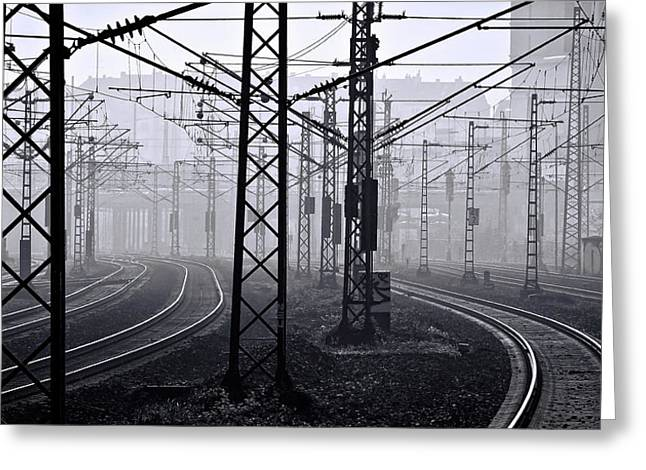 Electrified Railway Greeting Card by Daniel Hagerman