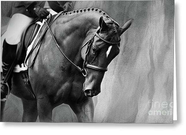Elegance - Dressage Horse Large Greeting Card by Michelle Wrighton