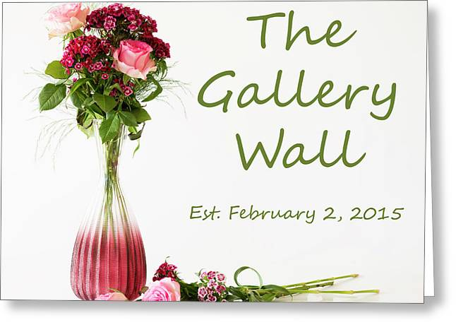 Greeting Card featuring the photograph Elegance-the Gallery Wall Logo by Wendy Wilton