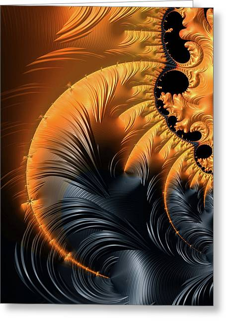 Elegant Abstract Art With Warm Colors Greeting Card
