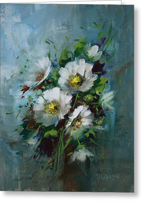 Elegant Blossoms Greeting Card by David Jansen