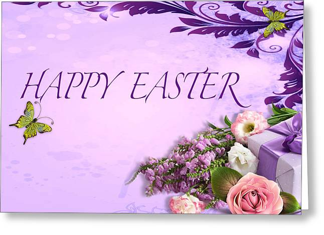 Elegant Easter Card Greeting Card