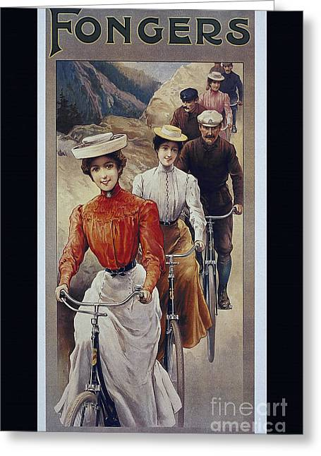 Elegant Fongers Vintage Stylish Cycle Poster Greeting Card by R Muirhead Art