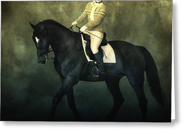 Elegant Horse Rider Greeting Card