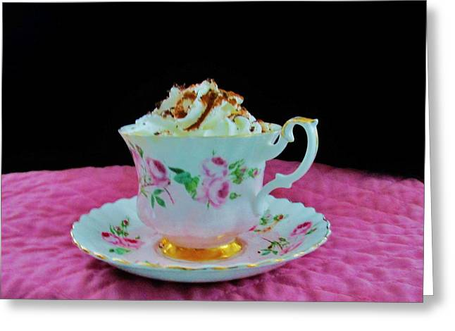 Elegant Hot Chocolate Greeting Card by Sharon Ackley