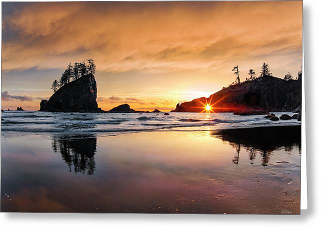 Greeting Card featuring the photograph Elegant Ocean Light by Leland D Howard