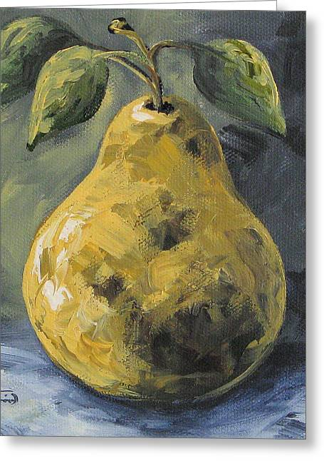 Elegant Pear Greeting Card